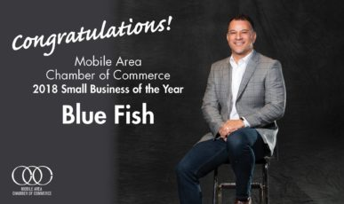 Blue Fish named Mobile Chamber of Commerce Small Business of the Year