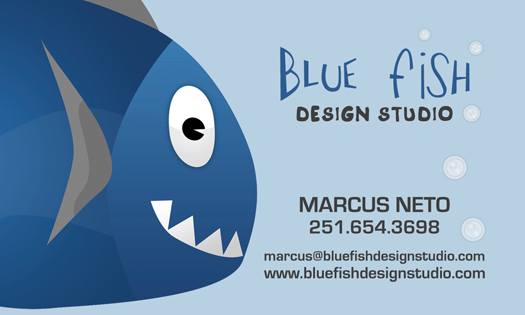 New Blue Fish Business Card