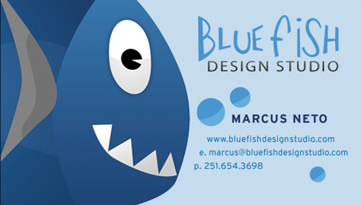 Old Blue Fish Business Card