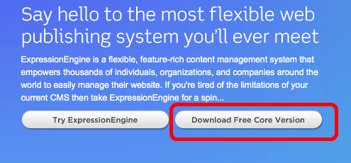 ExpressionEngine Core Version