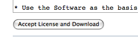 Accept License and Download button