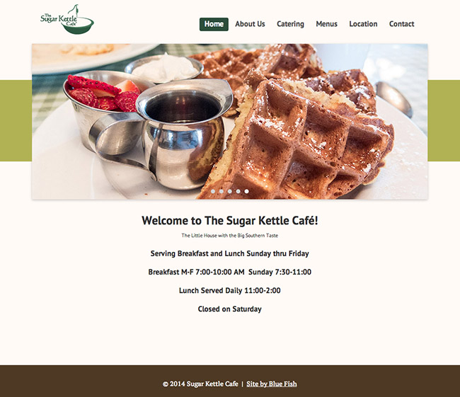 Sugar Kettle Cafe's new site